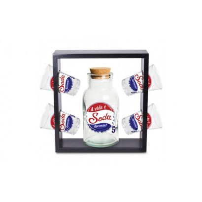 Kit a vida é soda premium - Suporte. ref.: COW-S-2149