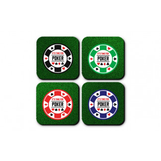Porta Copos Poker night (4 pçs). ref.: COW-S-3302