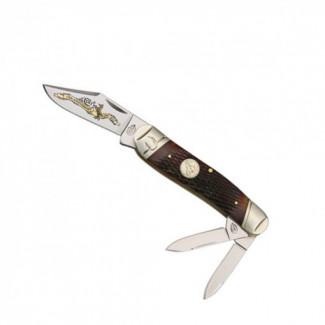 Canivete Colt Serpentine Whittler, com talas em osso . CT362