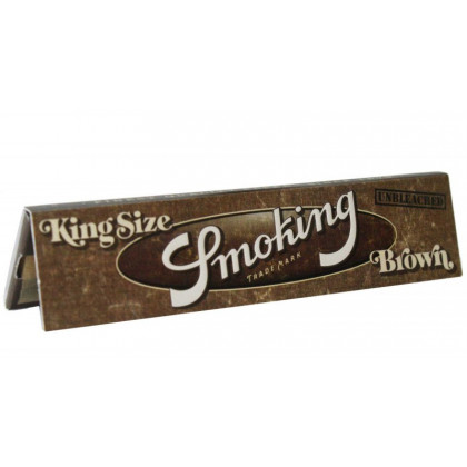 Papel p/ Cigarro Smoking Brown Grande c/33