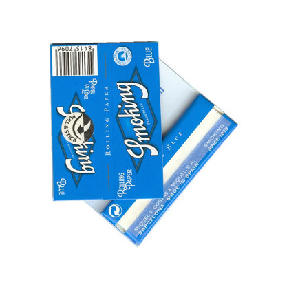 Papel p/ Cigarro Smoking Azul Pequena c/50