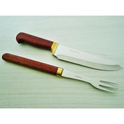 Conjunto faca e garfo Zakharov Chef Tradição 8''
